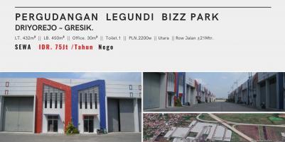 Pergudangan Legundi BizPark., Driyorejo, Gresik | Serba Guna & Fungsional