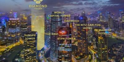 Apartment Diamond Tower Mega Kuningan Luxurious Prestigious.