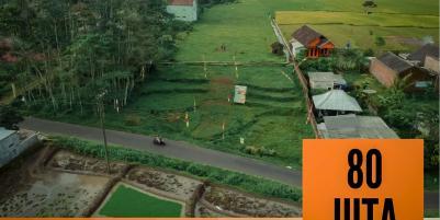 Tanah kavling pinggir Aspal murah siap bangun SHM luas 72m² harga  80jt