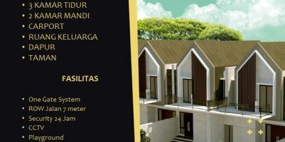 Rumah Mewah 2 Lantai 3 Kamar Tidur 600jutaan di Kaliurang Yogyakarta Dekat UGM Aranya Park