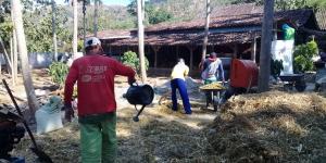 Lahan peternakan lengkap dgn kandang sapi, kambing, ayam, kolam, kebun