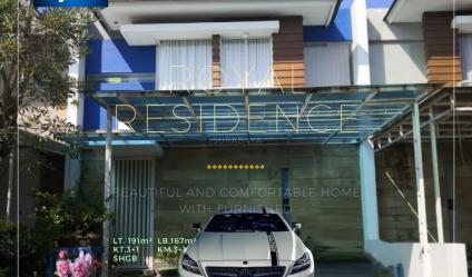 Rumah Siap Huni terawat dengan Furnished di Royal Residence Wiyung, Surabaya.