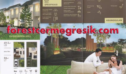Dijual Rumah Baru 2 Lantai Cluster Forest Cerme Gresik Type Evergreen Hill - Foto 001