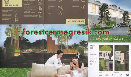 Dijual Rumah Baru 2 Lantai di  Perumahan Forest Cerme Gresik Tipe Evergreen Valley - Foto 001