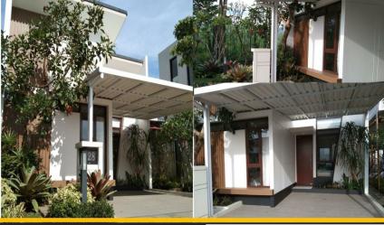 Rumah cantik minimalis modern 7 x 12 Bandung