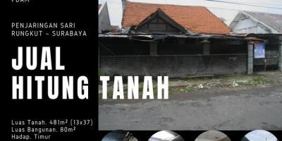 Rumah di Penjaringan Sari, Rungkut, Surabaya ~ 481m², SHM, Renovasi diperlukan.