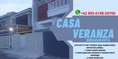 EXCLUSIVE..!!, Perumahan di Pusat Kota Sidoarjo Casa Veranza, WA 0895 - 6198 - 50700