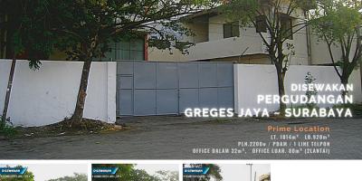 Gudang Greges Jaya, Surabaya - Prime Location.