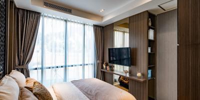 Apartement loft dengan view garden dan infinity pool