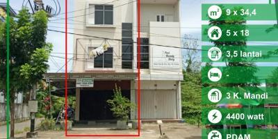 Ruko Prof M Yamin Kota Baru Pontianak, Kalimantan Barat