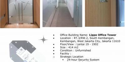 Dijual Kantor Lippo Office Tower