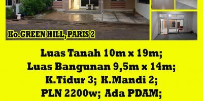 Rumah Green Hill, Paris 2, Pontianak, Kalimantan Barat