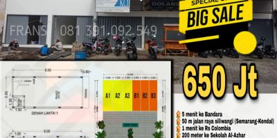 Ruko Strategis 2 Lantai 600jutaan di Kalibanteng Semarang
