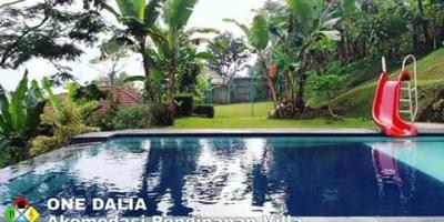 Disewakan Villa Hakim Puncak Bogor, dekat air terjun Curug Cilember 7